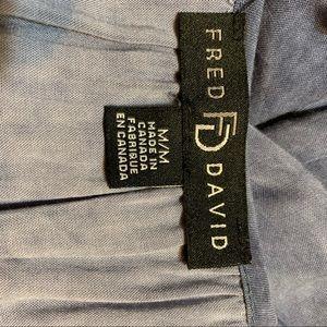 Fred David Tops - Fred David M Romantic Blue  3/4 Sleeve Boho Top